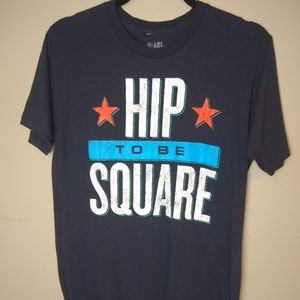 The Heart of Rock and Roll Hip to Be Square Tee M